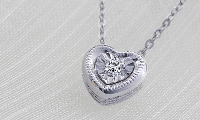 0.020克拉天然鑽石18K金項鍊